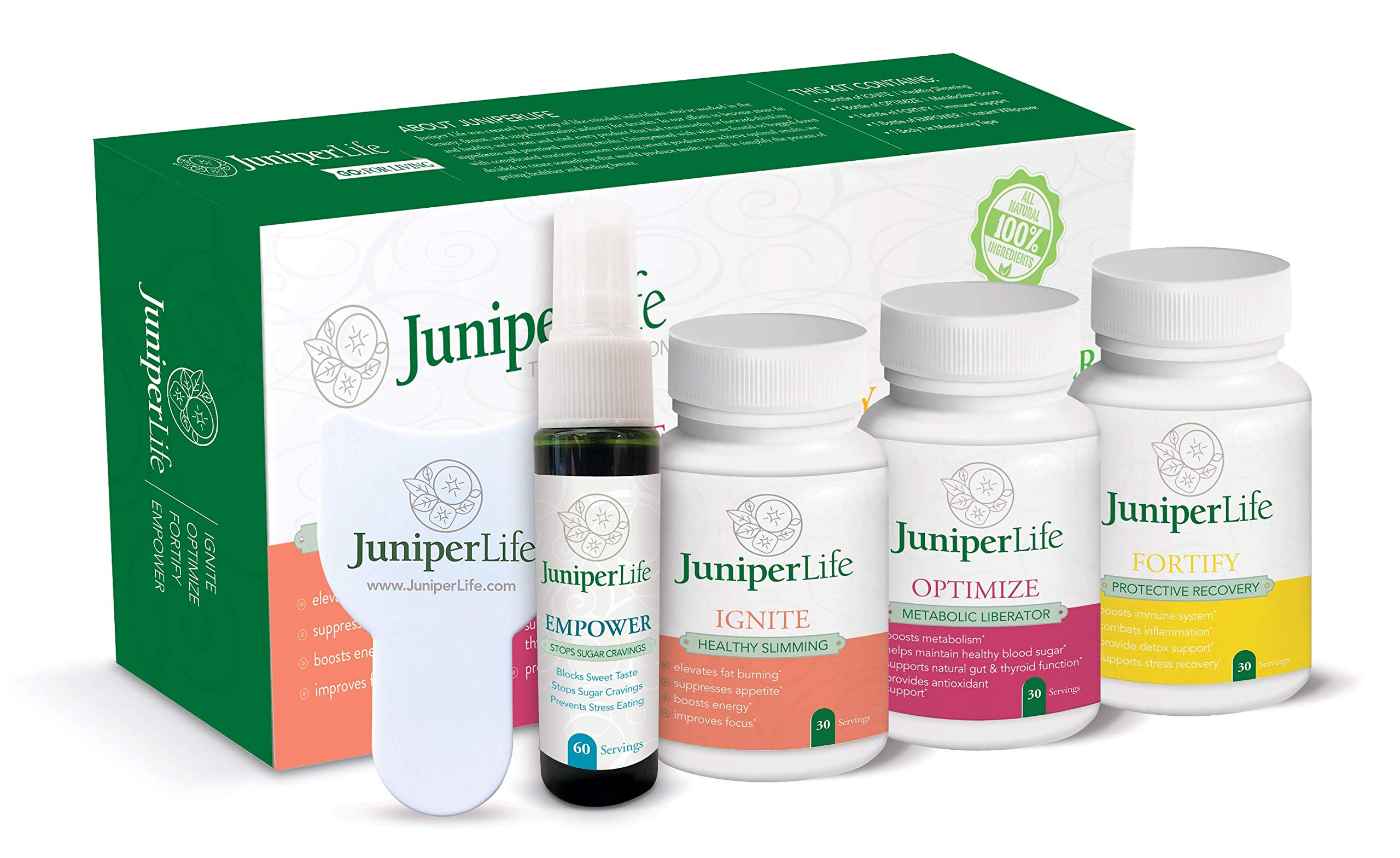 Transformation Program - OPTIMIZE, Ignite, Fortify, Empower - Weight Loss, Leaky Gut, Boost Energy & Metabolism, Control Glucose, Stop Sugar Cravings by JuniperLIfe