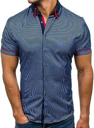 BOLF - Camisa casual - Manga corta - para hombre ...