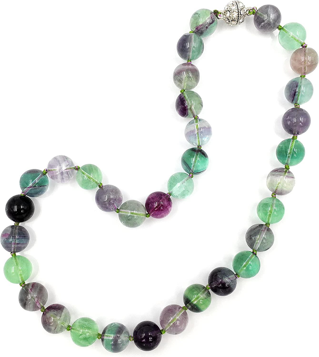 GREEN CRYSTAL PENDANT with magnetic clasp