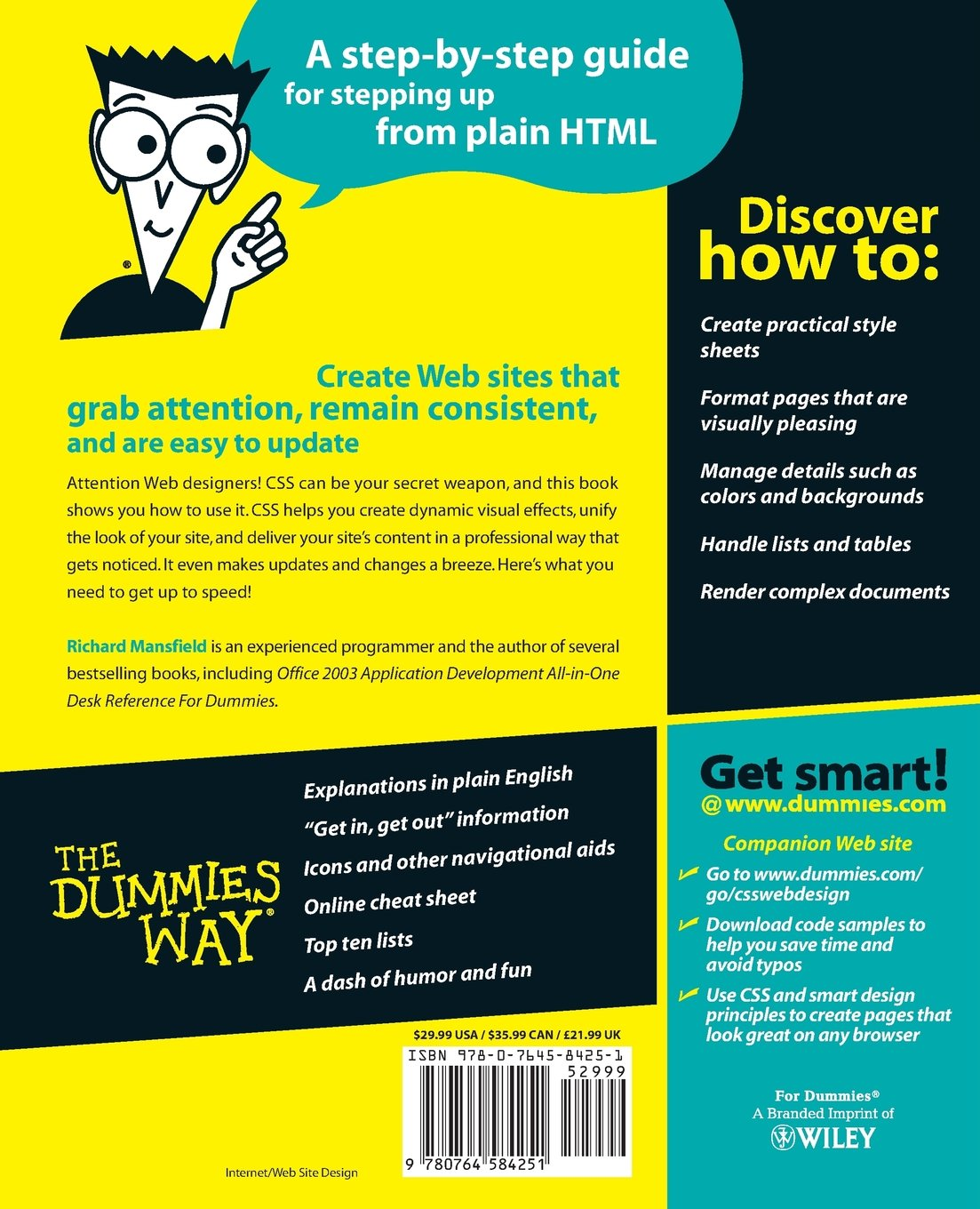 CSS Web Design for Dummies: Amazon co uk: Richard Mansfield