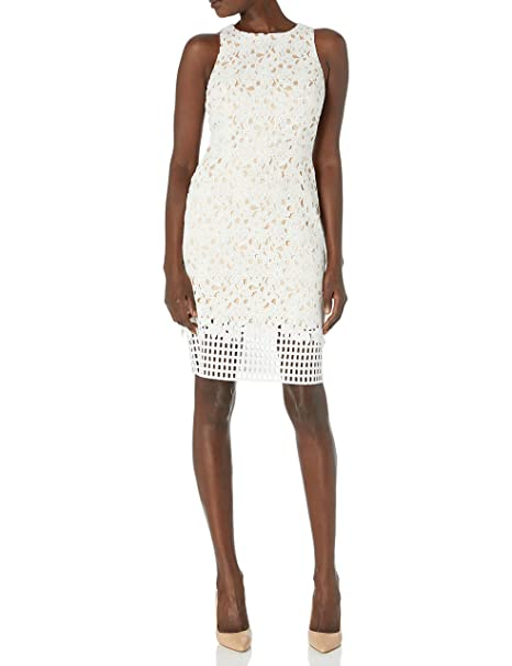 Amazoncom Vince Camuto Womens Lace Bodycon Dress Clothing
