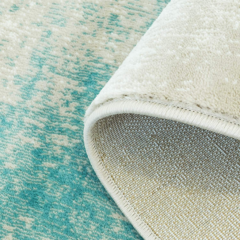 Carpet Meliert city Teppich Flachflor Inspiration mit Vintage-Muster, Meliert Carpet in Pastell-Blau, Creme, Beige, Größe  200x290 cm 5cc29d