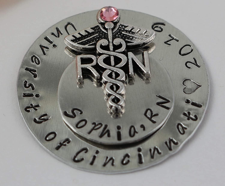 MSN Pin Master of Nursing Pin Engraved MSN Pin Live Love Heal pin- Gift for msn Nurse Pin graduation pin for master in nursing