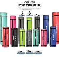 Gymnastikmatte Professional 190x60x1,2 Oder 190x100x1,2 cm | inkl. Übungsposter + Tragegurt | Hautfreundliche - Phthalatfreie Fitnessmatte - Sehr Weich - Extra Dick - Yogamatte