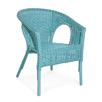 ARREDinITALY - Juego de 4 sillones para Exteriores de ratán ...