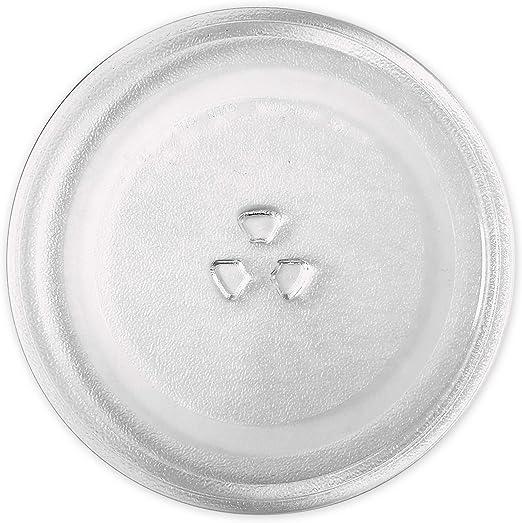 Saffire - Plato de cristal pequeño para microondas (24,5 cm, para ...
