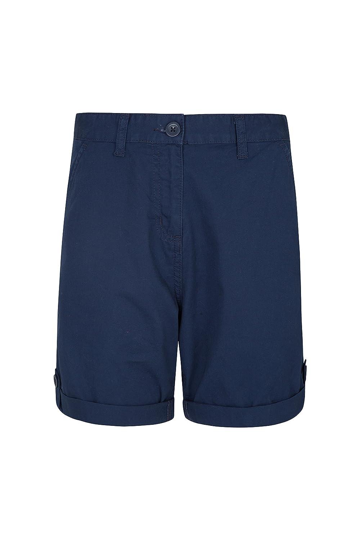 Mountain Warehouse Lakeside II Pantalones Cortos para Mujer - Ligeros, de Verano, duraderos, de algodón - para la Playa, pícnics
