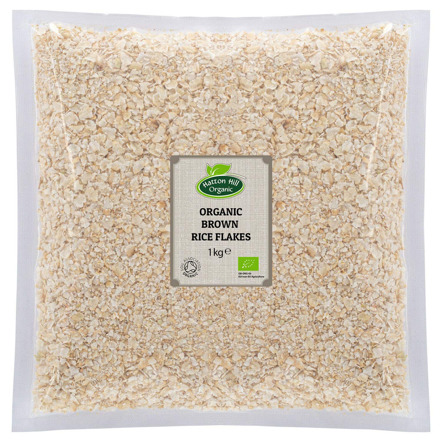 Organic Brown Rice Flakes (Gluten Free) 1kg by Hatton Hill Organic - Free UK Delivery