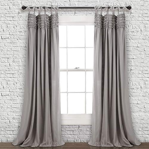 Lush Decor Lydia Curtains Ruffle Window Panel Set