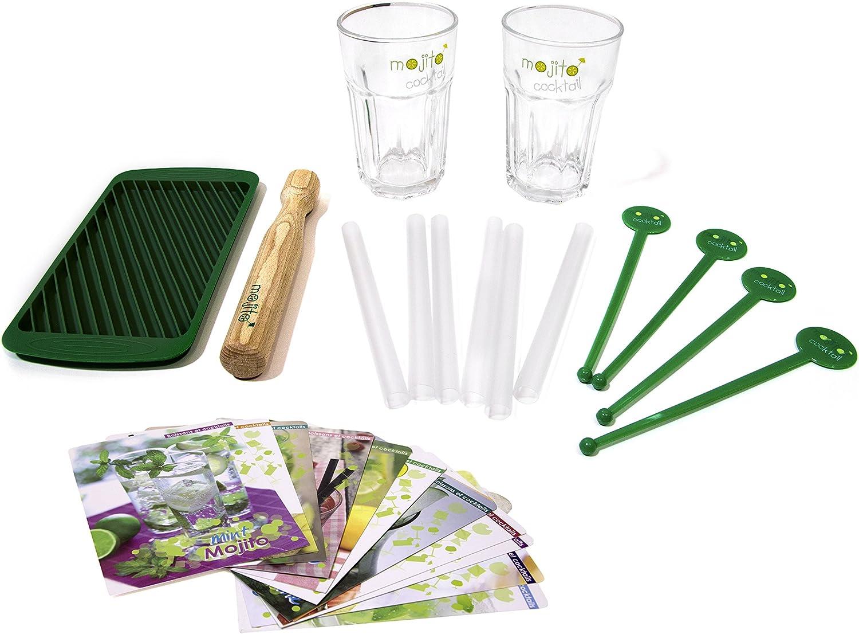 CMP CMKDO8509 Kit Mojito C/ 2 Vasos, Verde, 19.2x10.6x0.5 cm