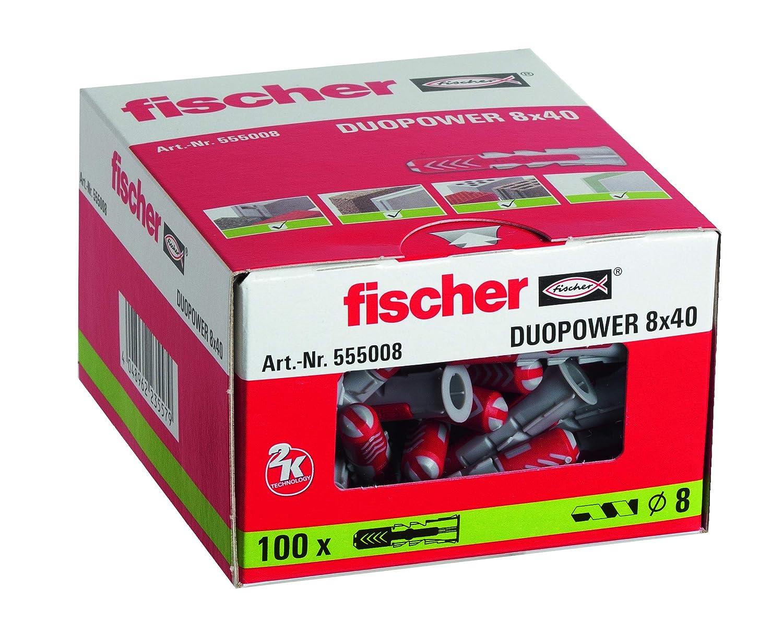 100 Chevilles DuoPower 6 x 30mm Fischer Chevilles