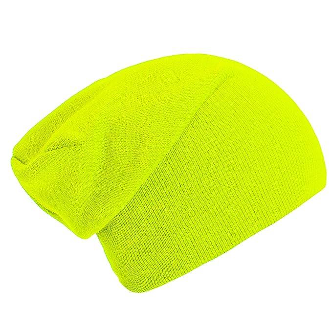 Gorro clásico barato de color amarillo neón