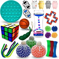 Sensory Fidget Toys Set 26 Pack – Fidget Pack For Stress Relief Anti-Anxiety Tools – Stretchy and Handy Squeezy Sensory…