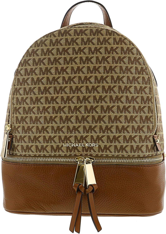 MICHAEL Michael Kors Rhea Zip Medium Backpack (Beige/Brown)