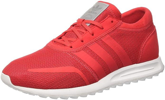 adidas Los Angeles Schuhe Herren rot mit rotem Streifen