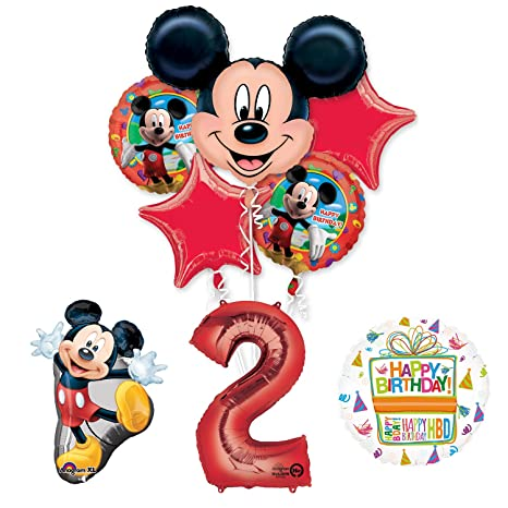 Amazon The Ultimate Mickey Mouse 2nd Birthday Party Supplies And Balloon Decorations Toys Games