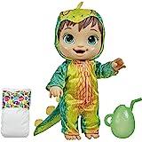Baby Alive Bebessauro Morena, Bebê Estegossauro - Boneca que Bebe e faz xixi - F0934 - Hasbro