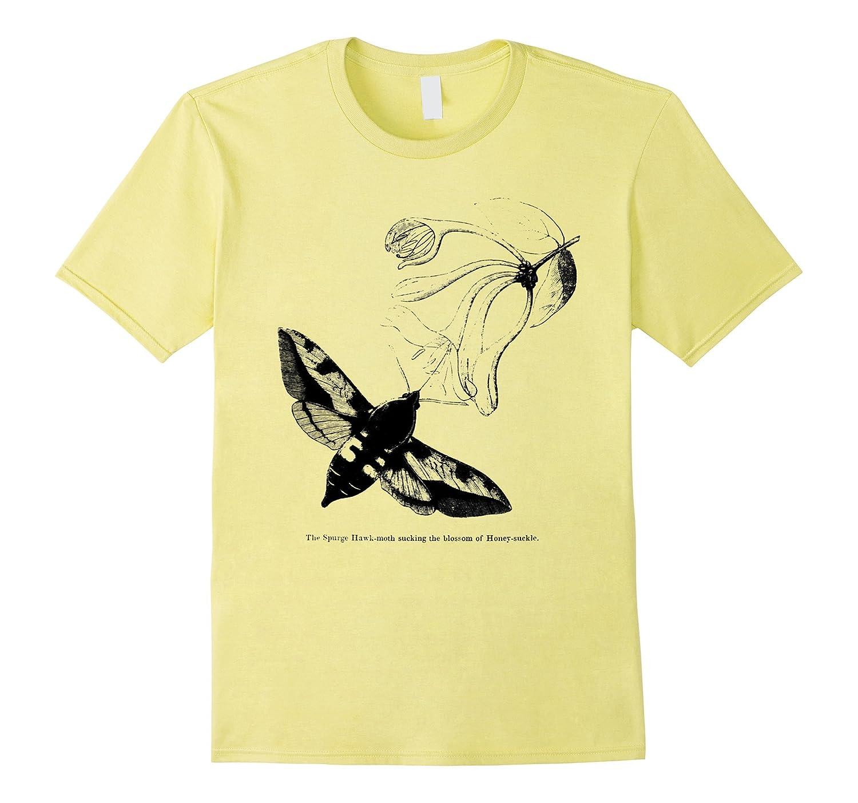 Vintage Entomology Spurge Hawk-Moth Tee T-shirt-AZP