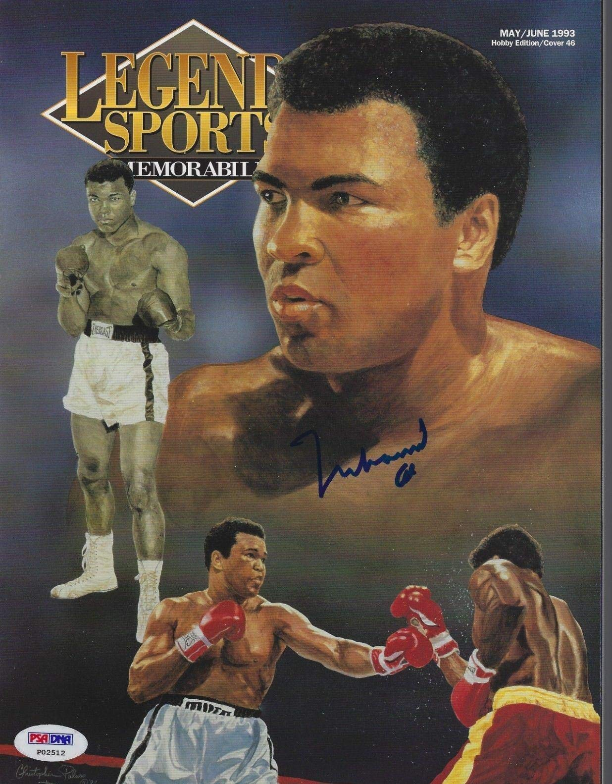 MUHAMMAD ALI Signed LEGENDS Magazine with COA (NO Label) PSA/DNA Certified Autographed Boxing Magazines
