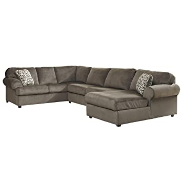Miraculous Signature Design By Ashley Jessa Place Sectional In Dune Fabric Alphanode Cool Chair Designs And Ideas Alphanodeonline