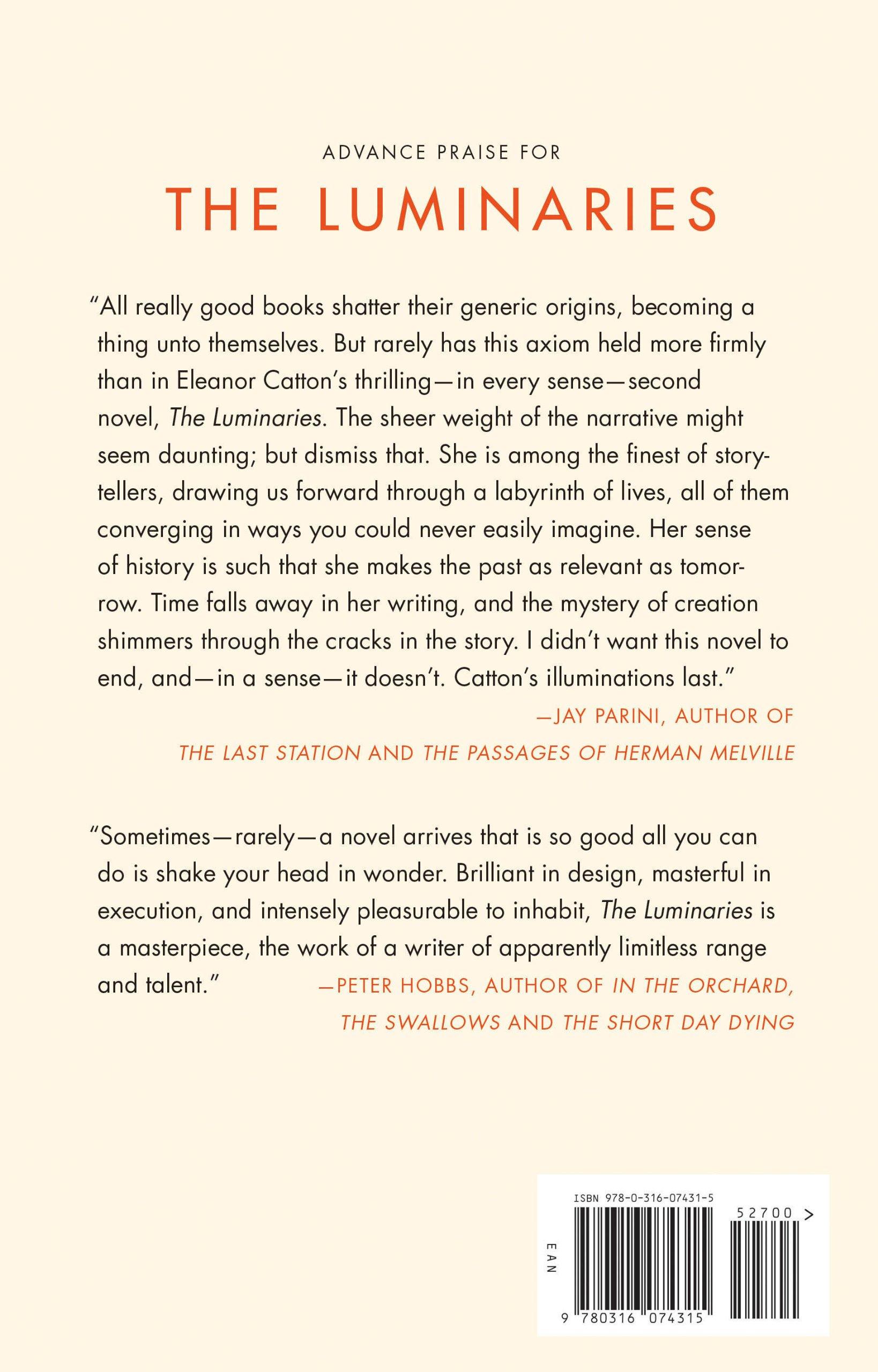 The Luminaries: A Novel (man Booker Prize): Eleanor Catton: 9780316074315:  Amazon: Books