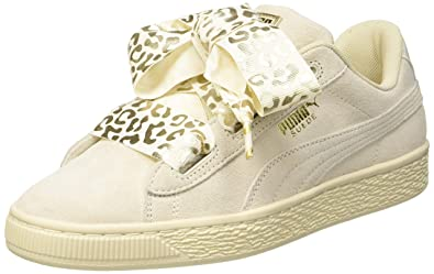 29ff3dc749 Puma Suede Heart Athluxe Jr, Sneakers Basses Fille, Blanc (Whisper White  Team Gold
