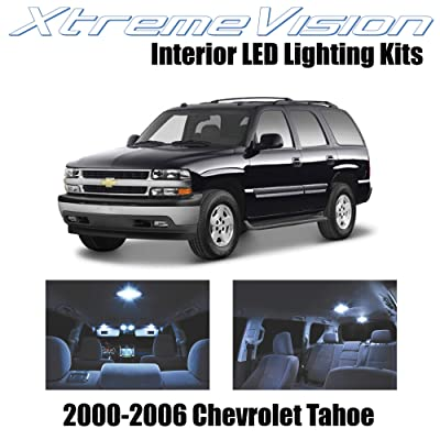 XtremeVision Interior LED for Chevy Tahoe 2000-2006 (18 Pieces) Cool White Interior LED Kit + Installation Tool: Automotive