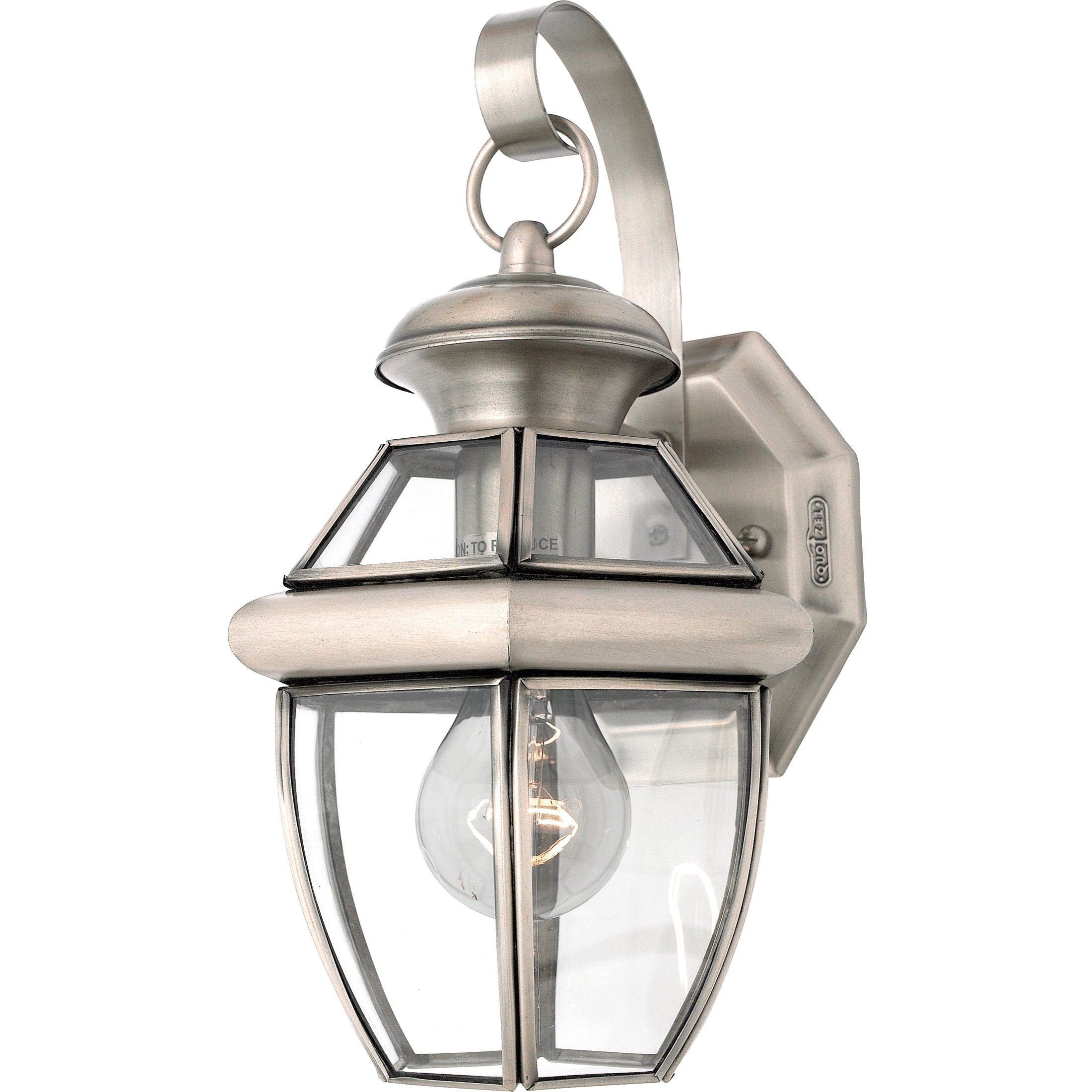 Quoizel NY8315P Newbury 1-Light Outdoor Lantern, Pewter