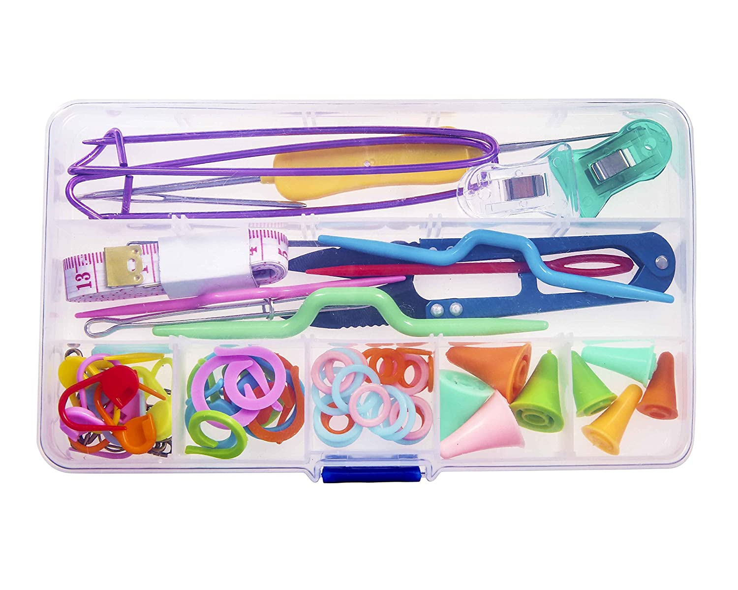 Seawhisper Knitting Notions and Supplies with Storage Case Knitting Stitch Holders Counter 4336923998
