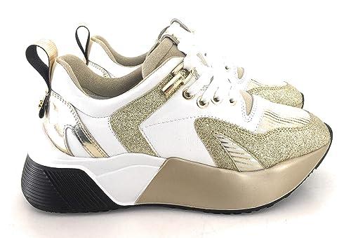 Paciotti sneakers Bianco Cesare Pelle In Con Donna 4us CxeoBd