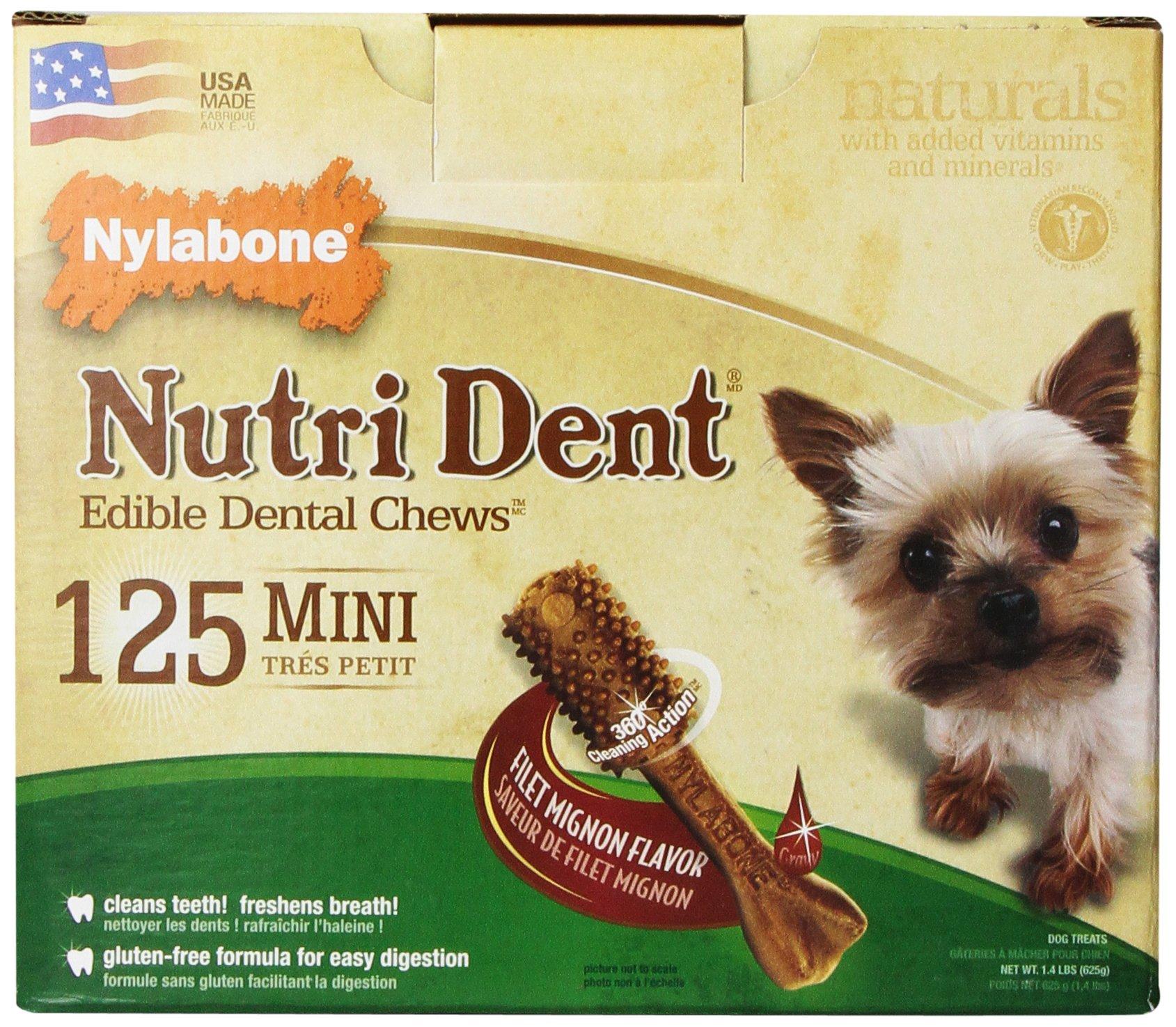 Nylabone Nutri Dent Filet Mignon, 125-Count Pantry Pack