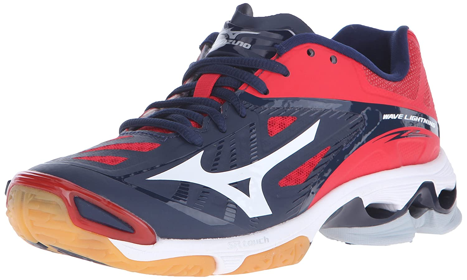 Mizuno Women's Wave Lightning Z2 Volleyball Shoe B01AUPR9QW 13 D US|Navy/Red