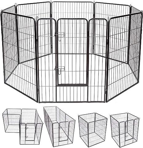 Caige Instalaci/ón Simple Puerta de Perro,Blanco