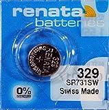 Renata - Pile bouton oxyde argent 329 RENATA 1.55V 37mAh - Blister(s) x 1