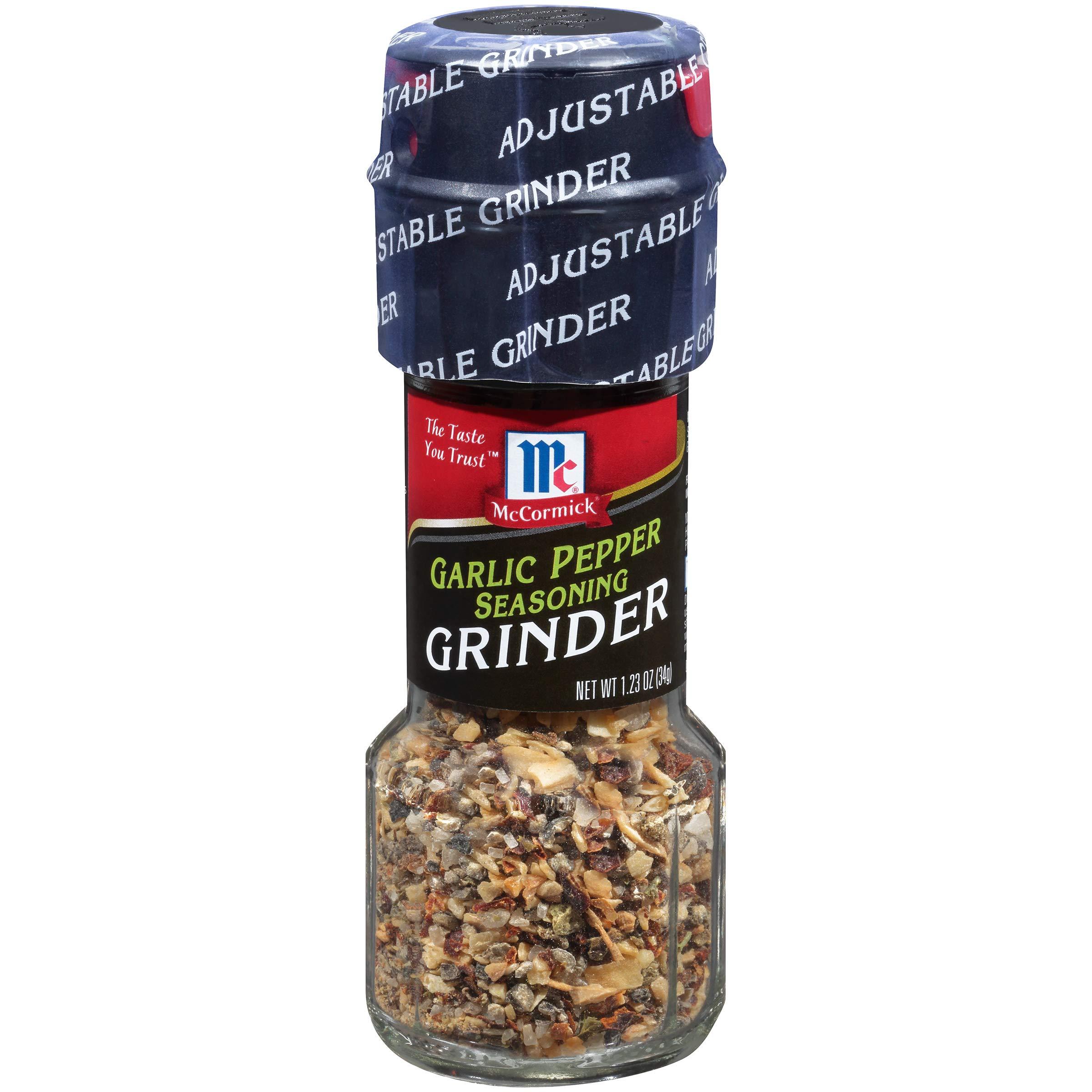 Grinders Garlic Pepper Seasoning - 6 Pack
