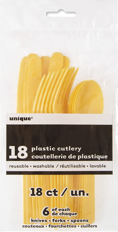 Unique Party Supplies Kunststoff Besteck-Set f/ür 6