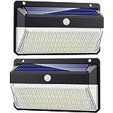 Solar Lights Outdoor 228 Led, QTshine [2200mAh Super Bright Energy Saving] Solar Security Lights Motion Sensor, 3 Modes IP65