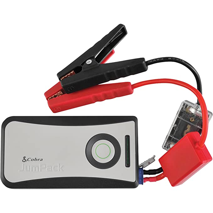 Cobra JumPack CPP8000 3-in-1 Portable Power Car Jump Starter: Battery Charger, Power Pack & LED Flash Light with Jumper Cables, 360 Amp Peak, 6000mAh ...