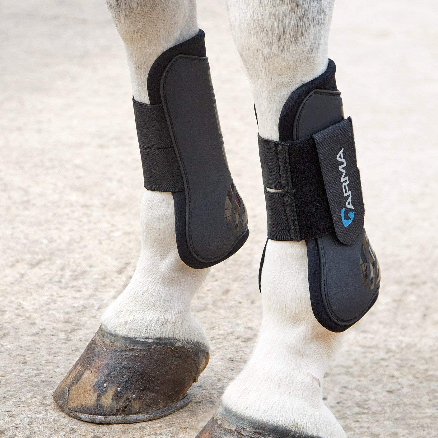Shires Arma Neoprene Brushing Boots in Royal Blue