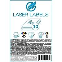 10 Blatt, A4, bedruckbare Klebefolie, weiß, glänzend/geeignet für Produktetiketten, Hinweisschilder./für Laserdrucker und Kopierer