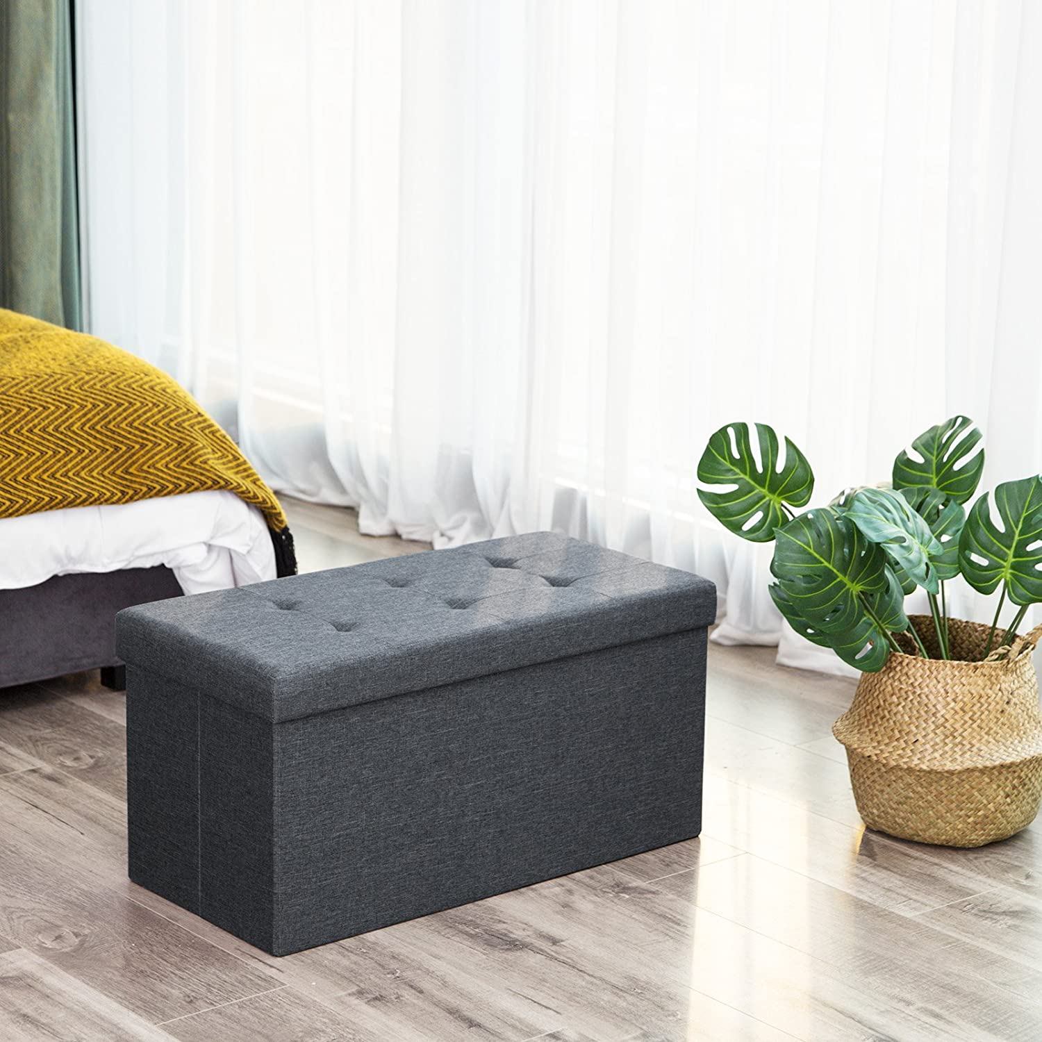 songmics storage bench for bedroom