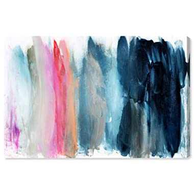 The Oliver Gal Artist Co. Abstract Wall Art Canvas Prints 'Parque del Retiro' Home Décor, 45  x 30 , Blue, Pink