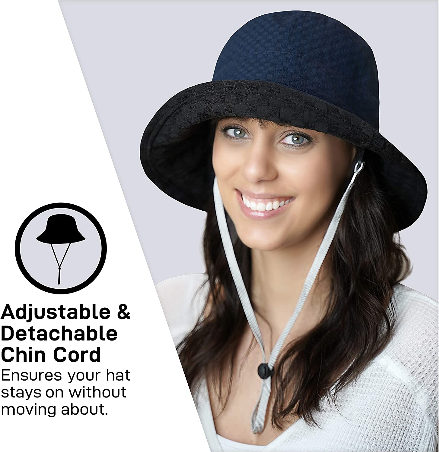 Bucket hat for Summer Outdoor Sun Protection GearTOP Sun Hats for Men and Women Reversible 2 Colour Options