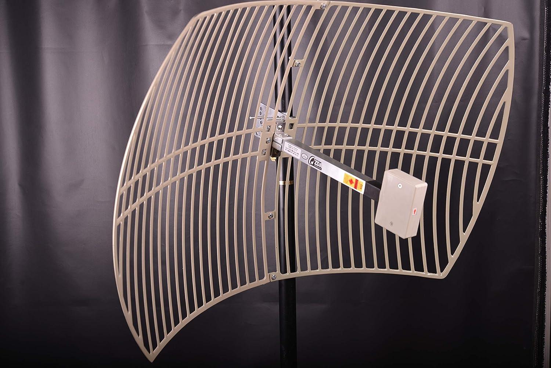 1710-2170 MHz, Grid Parabolic Dish Antenna, 19 dBi gain