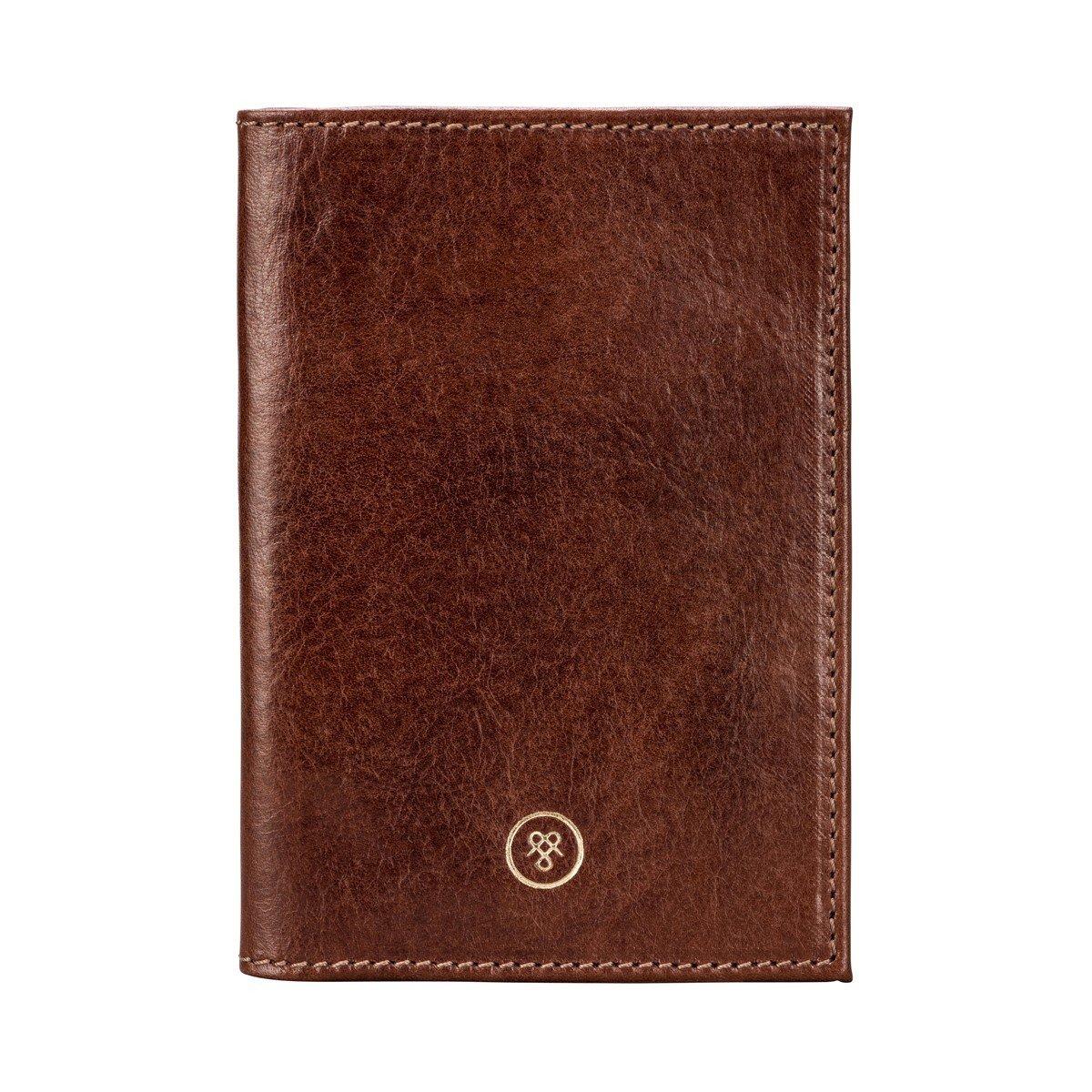 Maxwell Scott Personalized Luxury Handcrafted Italian Full Grain Leather Passport Cover / Holder (The Prato)