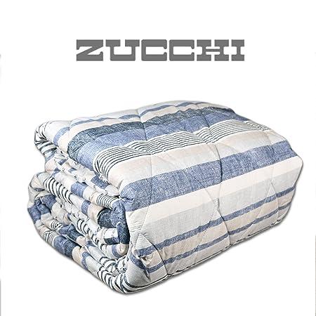 Piumoni Bassetti Una Piazza E Mezza.Trapunta Una Piazza E Mezza Zucchi Basic Infinity Blu Amazon It