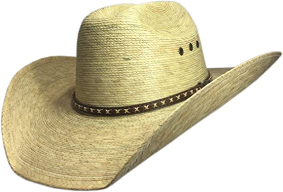7bb73fd85fd Image Unavailable. Image not available for. Colour  BULL-SKULL HATS Palm  Leaf Cowboy Hat