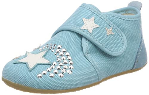 Living Kitzbühel Babyklettschuh Stern - Zapatos primeros pasos de lona para niño, color rosa, talla 23