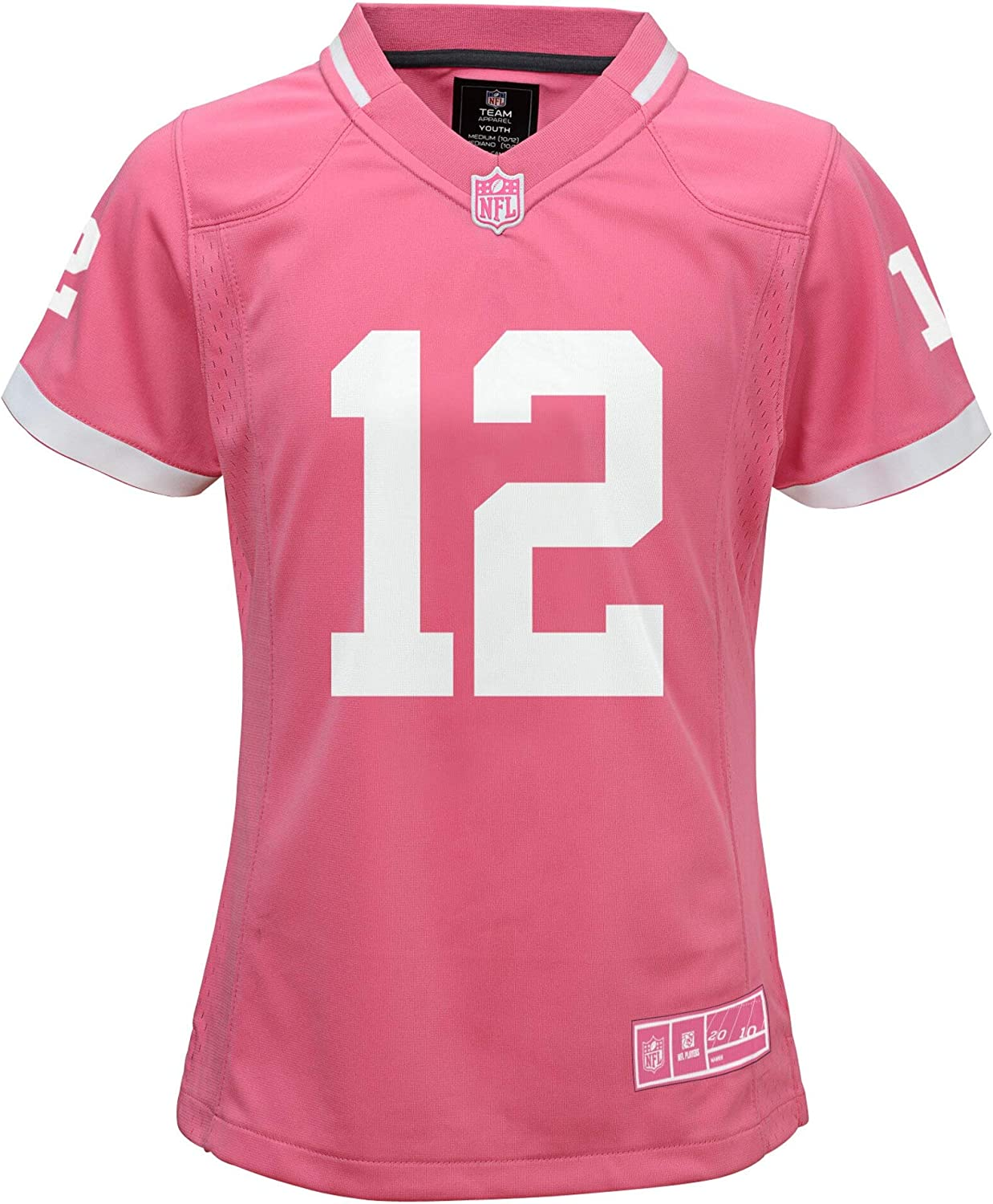 Aaron Rodgers Green Bay Packers #12 Bubble Gum Pink Youth Girls Jersey