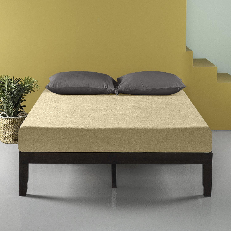 Zinus 14 Inch Wood Platform Bed / No Box Spring Needed / Wood Slat Support / Dark Brown, Full by Zinus (Image #5)